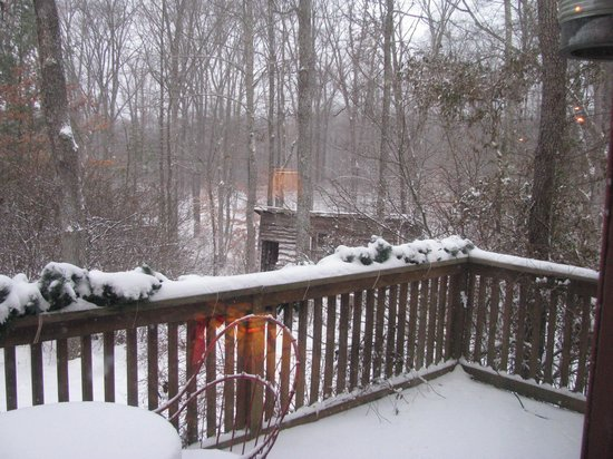 Robinwood Inn: Very private off back deck