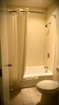 Americas Best Value Inn - Atascadero / Paso Robles: Older place. Our bathroom was clean.