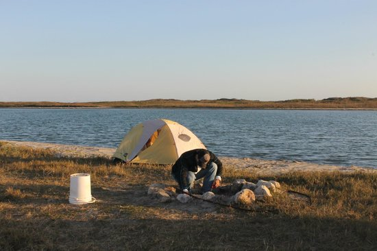 Padre Island National Seas Our Campsite At The End Of North We