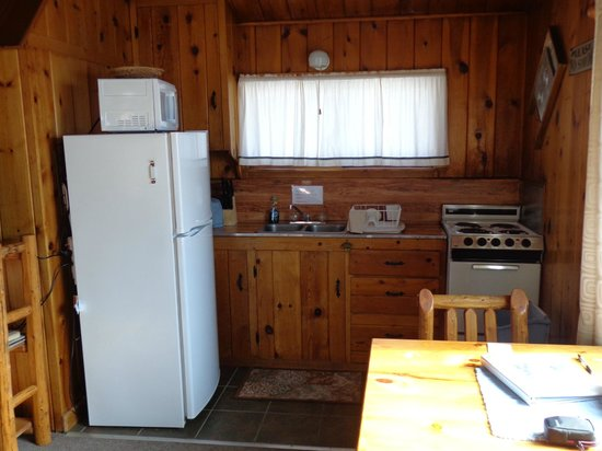 Vista Court Cabins & Lodge: Nicely equipped kitchenette