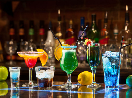 Queen Vic: Selection of drinks on offer
