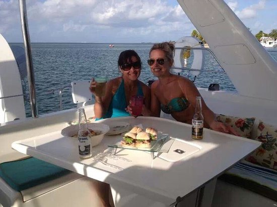 Catamaran Sailing Miami - Day Tours: delicious food