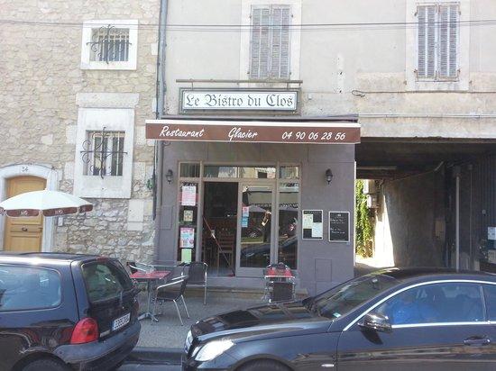 Bistro du Clos: la nouvelle façade