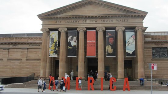 Art Gallery of New South Wales: Gallery Exterior with Sign for Special Exhibition