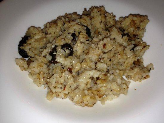 Café Verona : confit prunes with jasmine rice