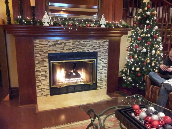 Country Inn & Suites by Radisson, Minneapolis West, MN: Holiday season in the lobby