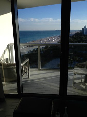 W South Beach: South facing balcony