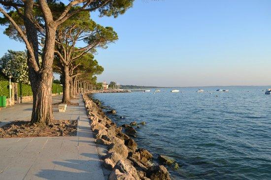Hotel Lazise: 200 meter til søen, og en dejlig bred promenade ind til city af Lazise