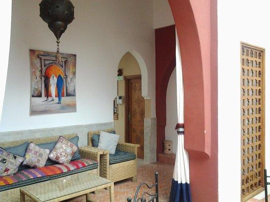 Riad Tafilag: terrasse tiout