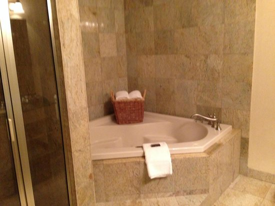 The Genesee Grande Hotel: Spacious renovated bathroom