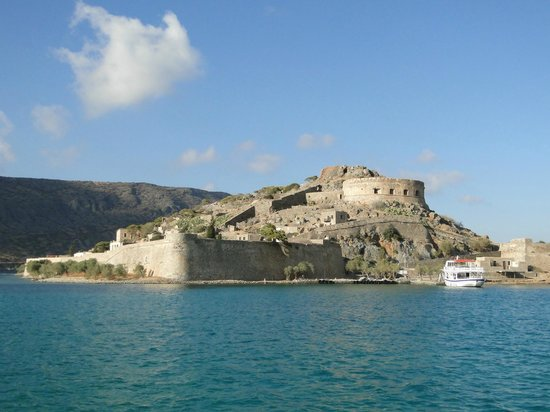 Spinalonga (Kalidon): Spina from the fast Catamaran