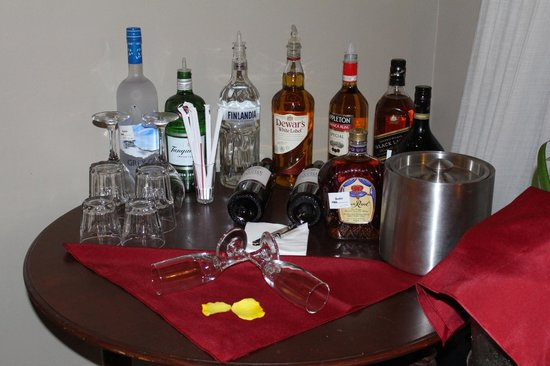 Sandals Regency La Toc: In Room Bar w/ Grey Goose thanks to DreamMakers (Amy McHugh)