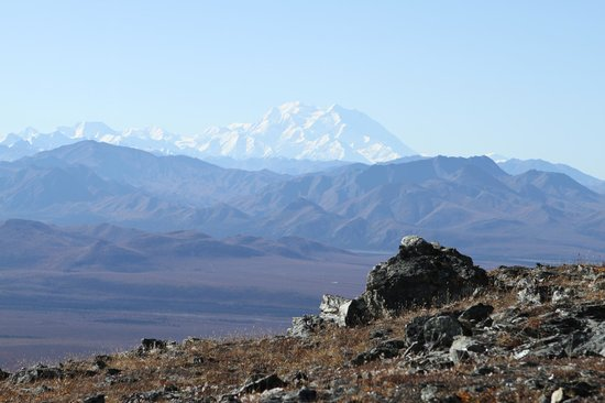 Mount Margaret Summit: View of Mt. McKinley from the top of Mount Margaret
