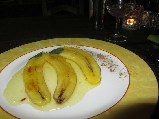 Restaurante La Carta : Flambeéd bananas in La Carte (lactose free)
