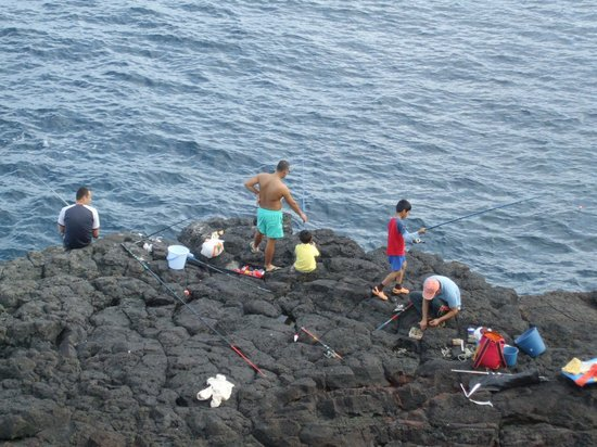 Families fishing near the tide pools picture of charco for Tides for fishing san diego