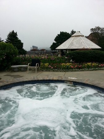 "Days Inn Bar Harbor/Frenchman's Bay: View from the ""other"" Inn's Spa/Tub - Pity about the Fog"