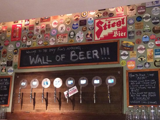 The Lazy Fox: Wall of beer