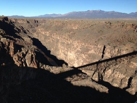 Rio Grande Gorge Bridge: this is nothing compared to the depth felt from the bridge