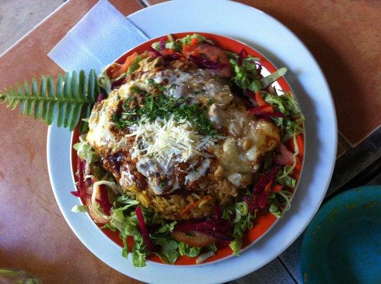 Campestre Habana: Arroz con pescado a la chorrera ! Vegetales fundido de queso al achiote!