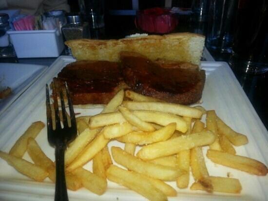 Savion's Place: meatloaf sandwich with parmesan fries