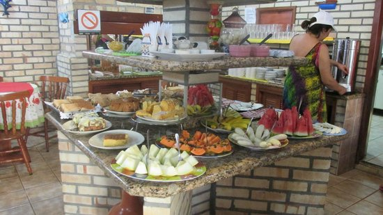 Hotel Pousada Silene: desayunandoo