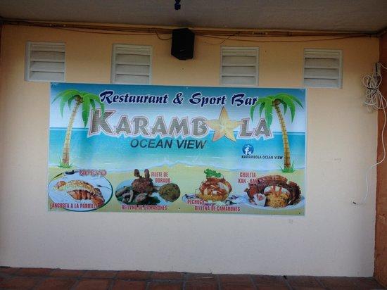 Karambola Ocean View : Dentro del restaurante