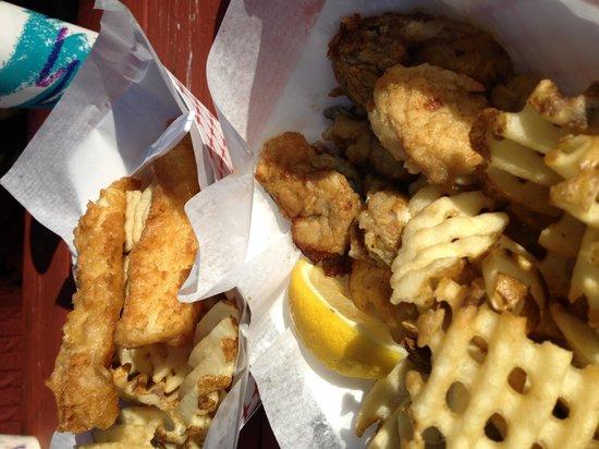 Bell Buoy of Seaside: Oyster basket and cod basket.