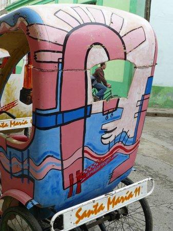 Martha Jimenez's Studio Workshop: Bici taxi decorated by Martha