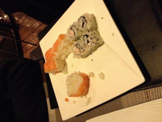 Arigato Sushi Restaurant: Ultimi piatti della serata...si nota la fretta del cuoco!