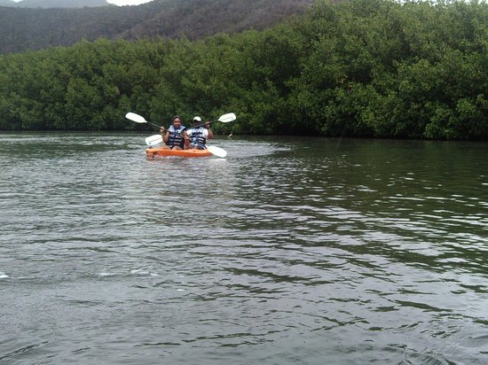 Antigua Rainforest Canopy Tour: Kayaking portion of the trip