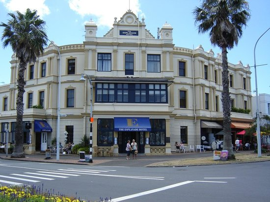 The Esplanade Hotel: The front of hotel.