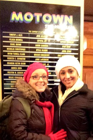 Motown The Musical on Broadway : In front of the cast sign