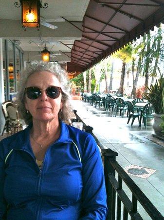 on the patio Columbia Restaurant Sarasota, Fl.