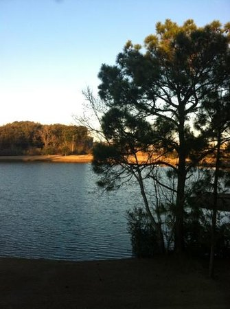 View of lake from our room