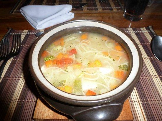 Casa del Sol Machupicchu: Chicken noodle soup