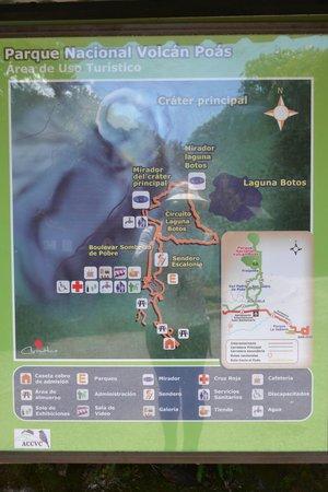 Poas Volcano: Plano del PN Volcan Poas