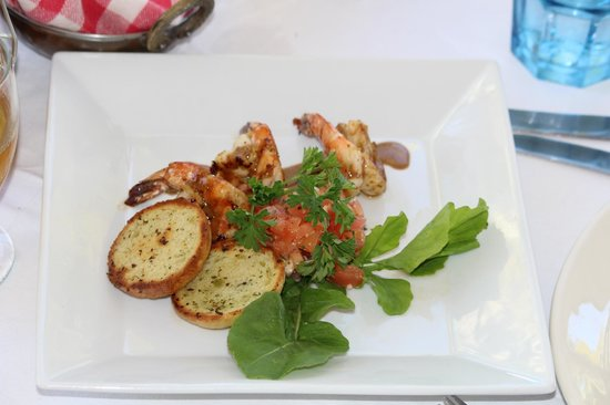 Cecilia's High Point Cafe: shrimp bruschetta super awesome, a ton of flavor!