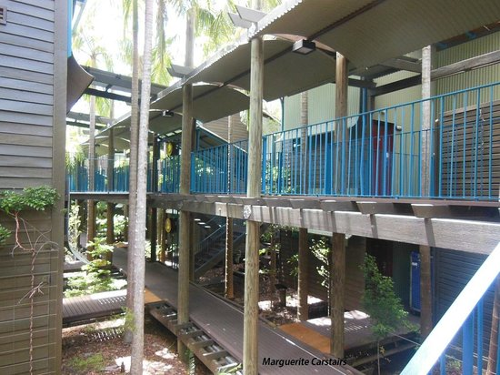 Kingfisher Bay Resort: Cabins are beautiful..and walkways take you to hotel foyer, and beach