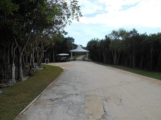 The Cove Eleuthera: Entrance after getting through the security gate