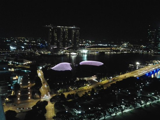 Swissotel The Stamford: marina bay area from the 35th floor