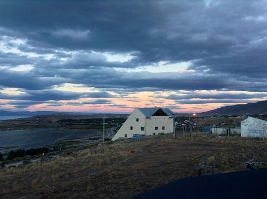 Casa Azul - Familia Patagonica : view to town from balcony