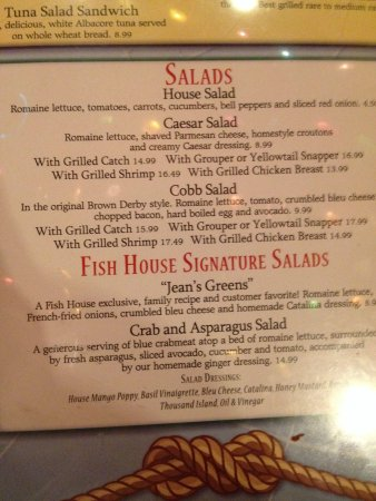 The Fish House : Salads.
