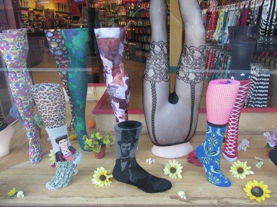 Haight Street: cool sock shop