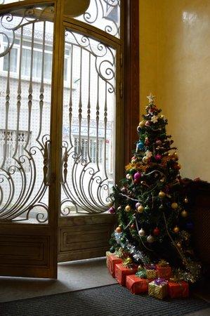 Sokullu Pasa Hotel: ホテルエントランス。クリスマス過ぎてますけどツリーは健在