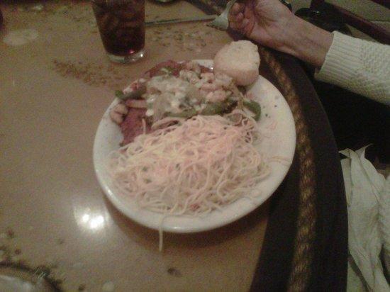 Trapani's Eatery: eggplant and shrimp ... I think
