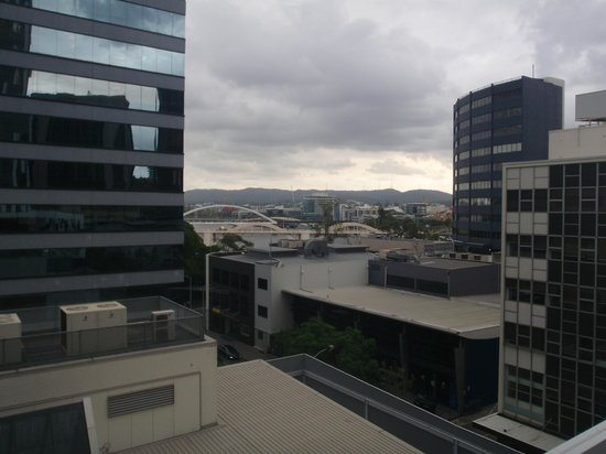 Meriton Serviced Apartments Brisbane on Herschel Street: view from window room 210 no balcony