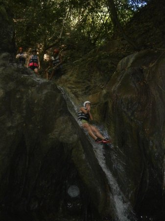 Puerto Plata, Dominican Republic: natural water slide