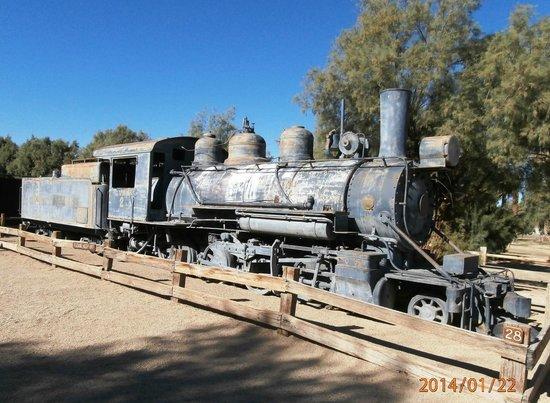 Stovepipe Wells Village: Old Baldwin Locomotive Engine
