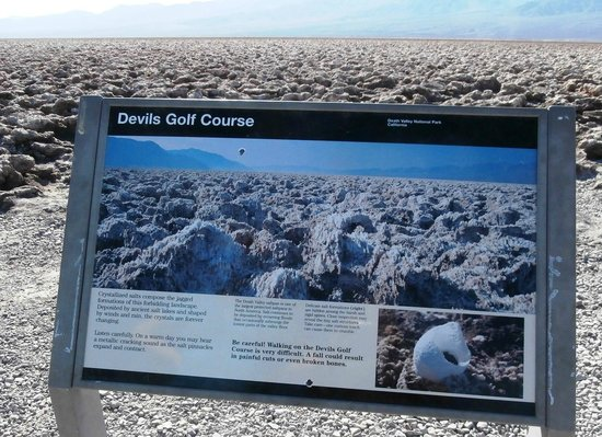 Devil's Golf Course: Devils Golf Course Sign