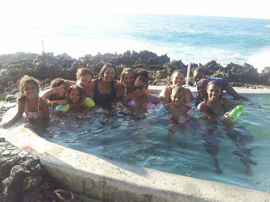 Casa Marina Reef: En el Jacuzzi con toda la familia
